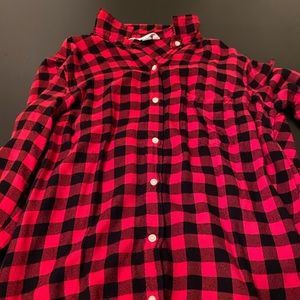 button down flannel shirt only worn once